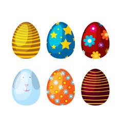 Easter eggs spring colorful celebration decoration vector