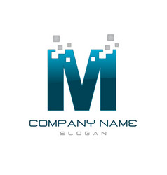 Modern letter m vector