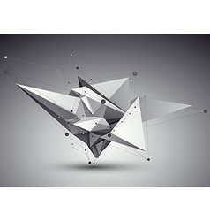3D abstract tech perspective geometric unus vector image