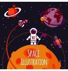 Space flat vector