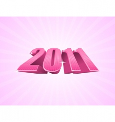 pink 2011 year vector