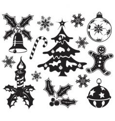 Christmas design element set vector