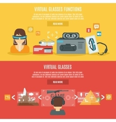 Virtual glasses banner vector