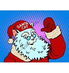 Santa Claus cat vector image