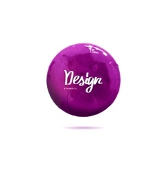 Round purple banner painted with paint vector