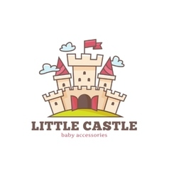 cute little castle logo for baby shop Kids vector image