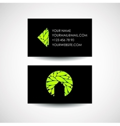 Eco house logo and business card design vector