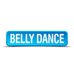 Belly dance blue 3d realistic square isolated vector