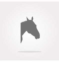 Horse sign button web app icon web icon vector