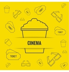 Abstract background with popcorn vector