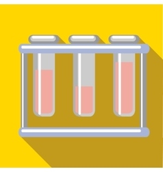 Medical test tubes icon flat style vector