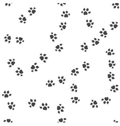 animal trail seamless pattern vector image