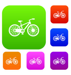 bicycle set collection vector image vector image
