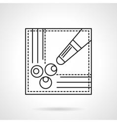 Billiard game flat line icon vector