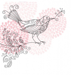 bird background vector image
