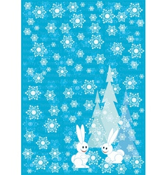 Blue winter Christmas background vector image