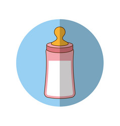 Bottle milk baby icon vector