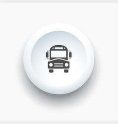 Bus school icon on a white button vector