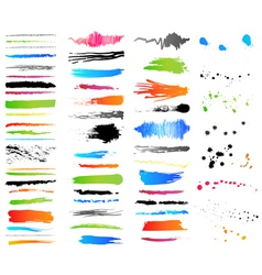 Collection of grunge colorful elements vector image