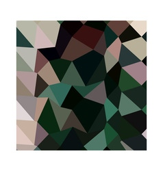 Dark moss green abstract low polygon background vector