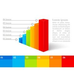 Digital graph design elements vector