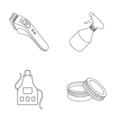 Electric clipper apron cream and other vector