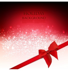 Elegant Holiday Red background with bow and place vector image vector image