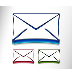 email icon web design element set vector image