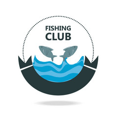 Emblem related with fishing club vector
