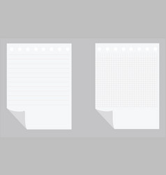 Empty paper sheets vector image