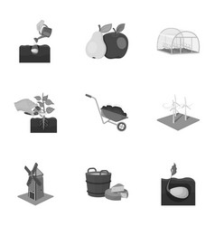 farm garden and other web icon in monochrome vector image vector image