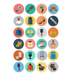 Fashion flat icons 4 vector