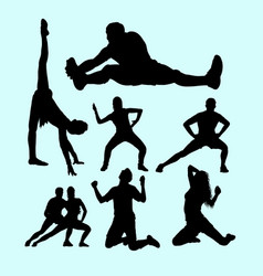 Fitness gymnastic body building weightlifting s vector