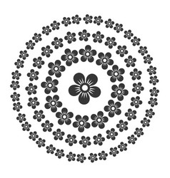 floral style circle oriental pattern set vector image