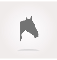 Horse sign button web app icon web icon vector