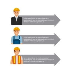 Infographic presentation of construction vector