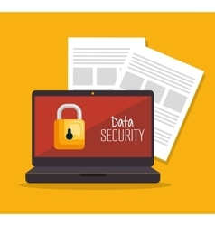 Laptop security data server document vector