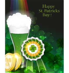 Leprechaun beer vector image