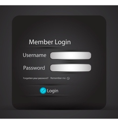 login page vector image vector image