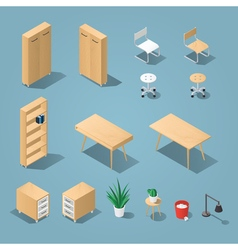 Office funiture set vector image vector image