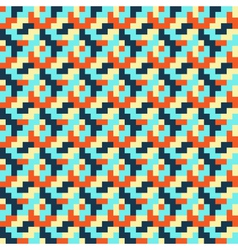 Seamless bright abstract mosaic pattern vector