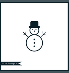 snowman icon simple vector image vector image