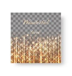 square background with golden shine vector image vector image