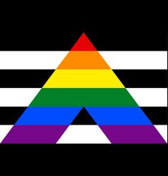 Straight ally flag vector