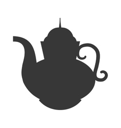 Teapot beverage isolated icon vector