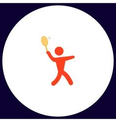 tennis computer symbol vector image vector image