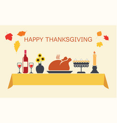 Thanksgiving day table vector
