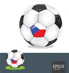 Soccer ball czech euro flag vector