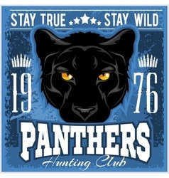 Hunting club sign Hunter sport team shield symbol vector image
