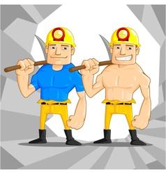 Mine worker vector